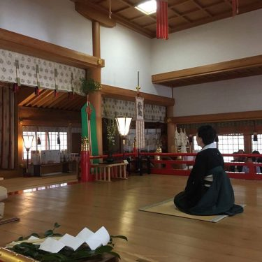 神社で奉納落語